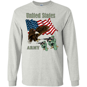 Army G240 Gildan LS Ultra Cotton T-Shirt AM082