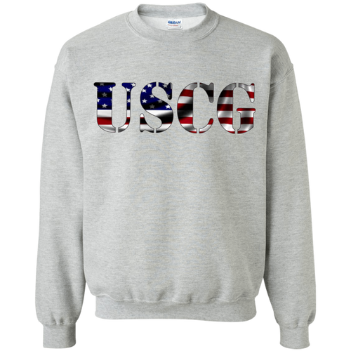 Coast Guard G180 Gildan Crewneck Pullover Sweatshirt  8 oz .AM070