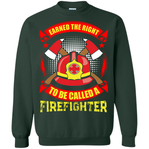 Firefighters G180 Gildan Crewneck Pullover Sweatshirt  8 oz. AH145