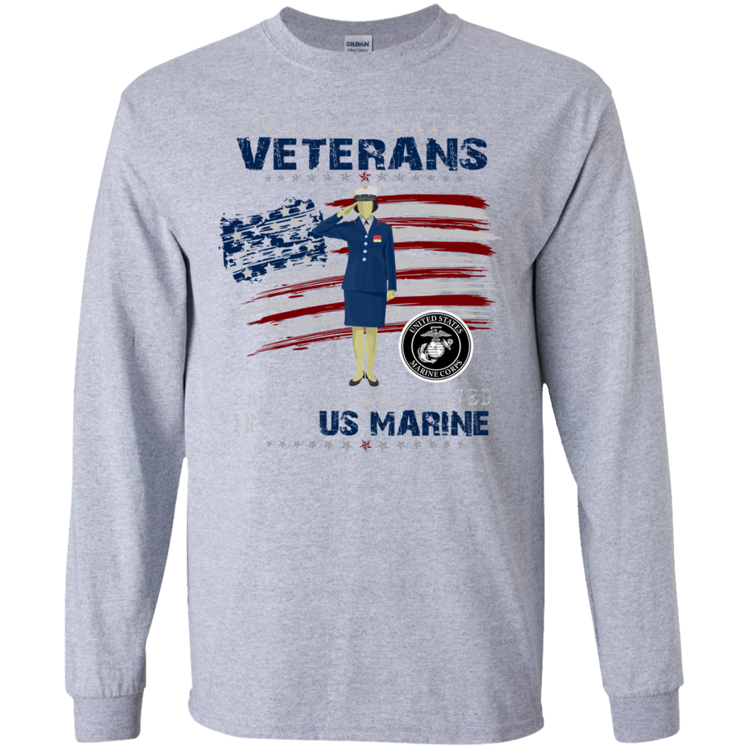 Marines G240 Gildan LS Ultra Cotton T-Shirt AM054
