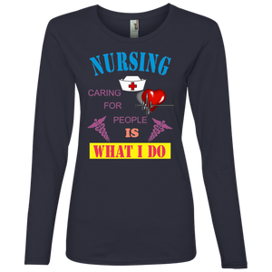 Nurse 884L Anvil Ladies' Lightweight LS T-Shirt AH111