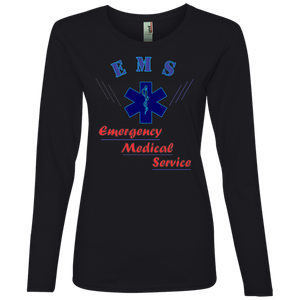 EMT 884L Anvil Ladies' Lightweight LS T-Shirt AH139