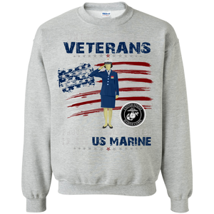 Marines G180 Gildan Crewneck Pullover Sweatshirt  8 oz. AM054