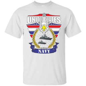 Navy G200 Gildan Ultra Cotton T-Shirt AM077