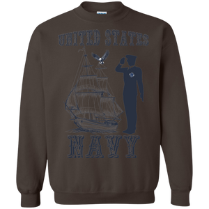 Navy G180 Gildan Crewneck Pullover Sweatshirt  8 oz. AM063