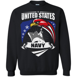 Navy G180 Gildan Crewneck Pullover Sweatshirt  8 oz. AM061