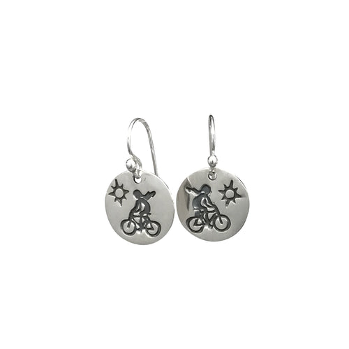 Bicycle Girl Earrings