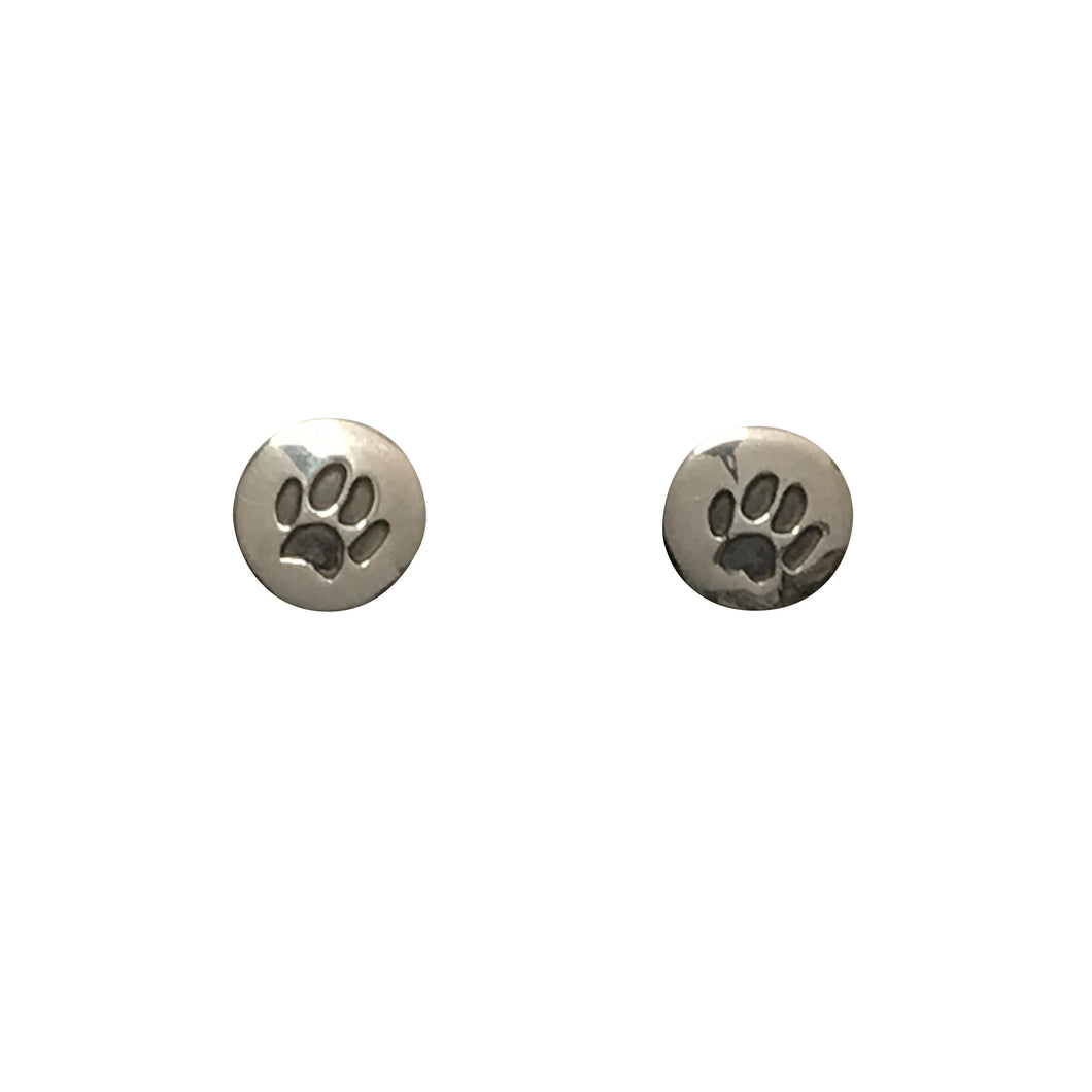 Paw Print Post Earrings