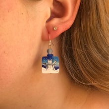 Snow Kitty Earrings