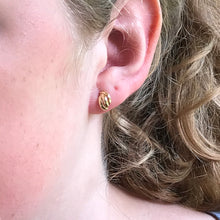 Fancy 14k gold post earrings