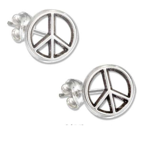 Mini Peace Sign Post Earrings