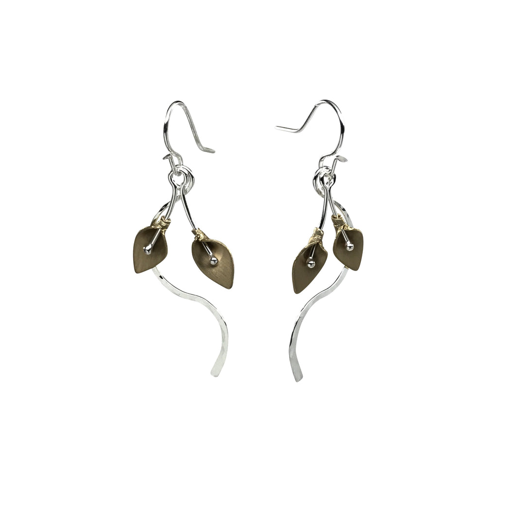 Golden Calla Lily Earrings