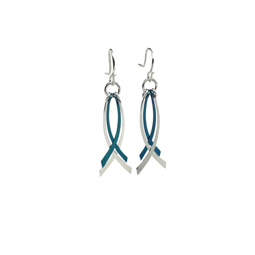 Criss Cross Dangle Earrings