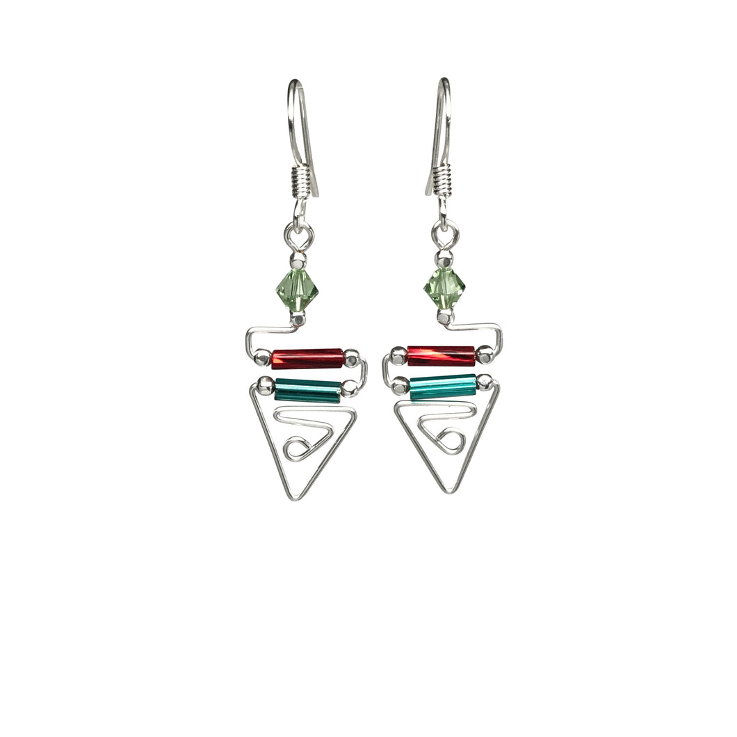 Egyptian Triangle Earrings