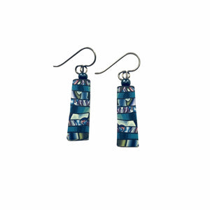 Colorful Striped Clay Earrings