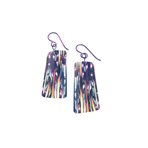 Multi Stripe Veneer Earrings