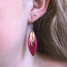 Plum Willowleaf Earrings