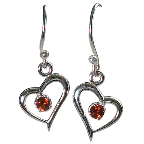 Sweet Heart Garnet Earrings