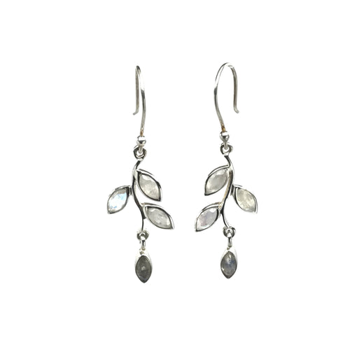 Moonstone Leaves Earrings