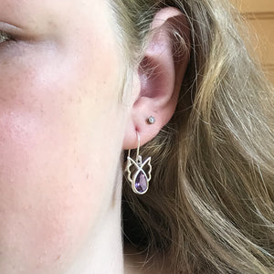 Amethyst Angel Earrings