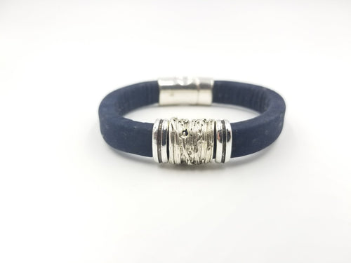 Navy Blue Cork Bracelet