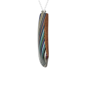 Layered Wood Pendant Necklace