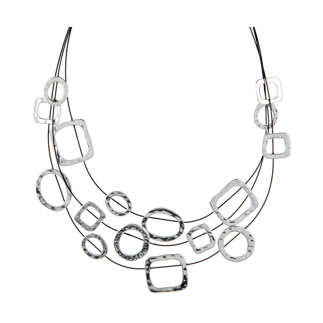 Silver Illusion Necklace Set