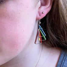 Triangular Barb Wire Earrings