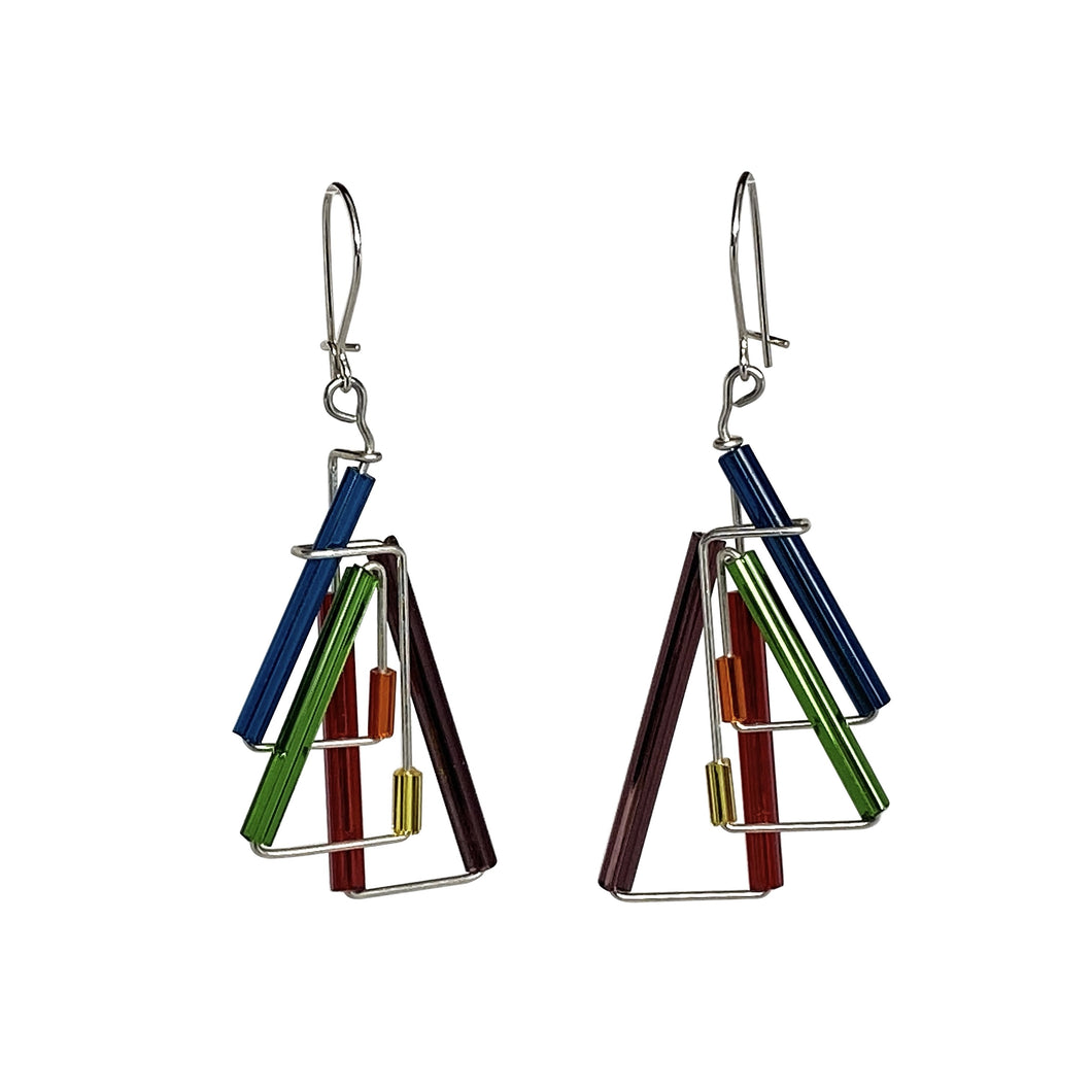 handmade unique artisan dangle earrings