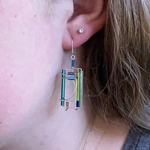 handmade unique artisan dangle earrings frank lloyd wright