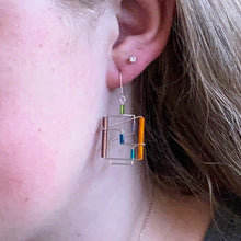 Square Barb Wire Earrings