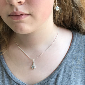 Sky Blue Topaz Pendant Necklace