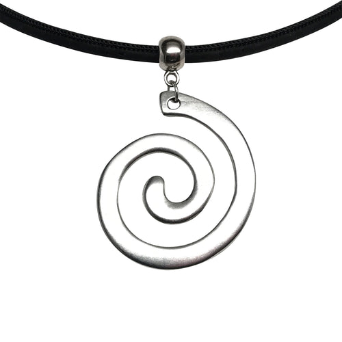 Open Spiral Cork Necklace