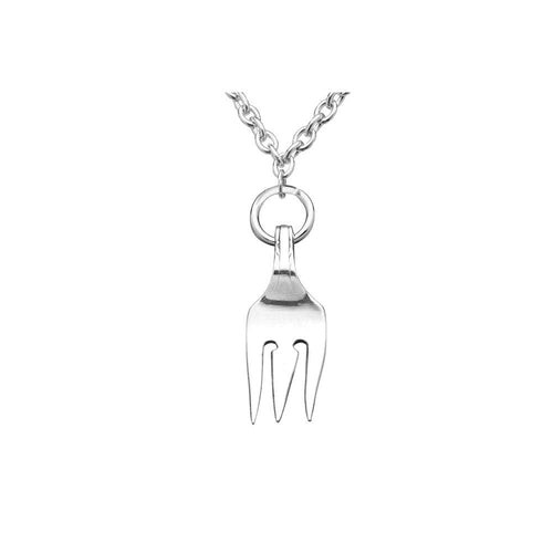 Antique Fork Pendant Necklace
