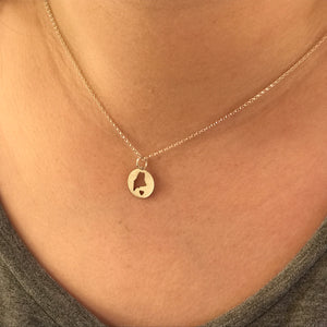 Mini Maine Circle of Love Necklace