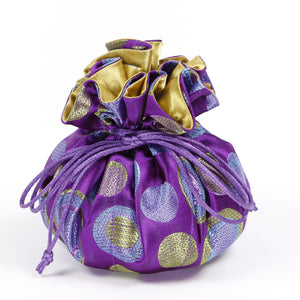 Purple Jewelry Pouch