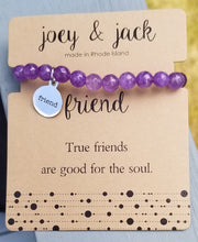 Purple Beaded Friend Bracelet