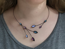 Purple Leaves and Branches Necklace