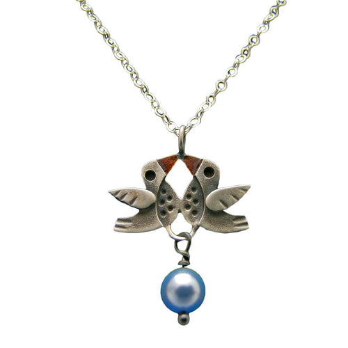 Lovebirds Pendant Necklace