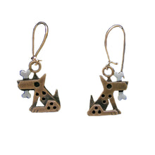 Bronze Fido Earrings