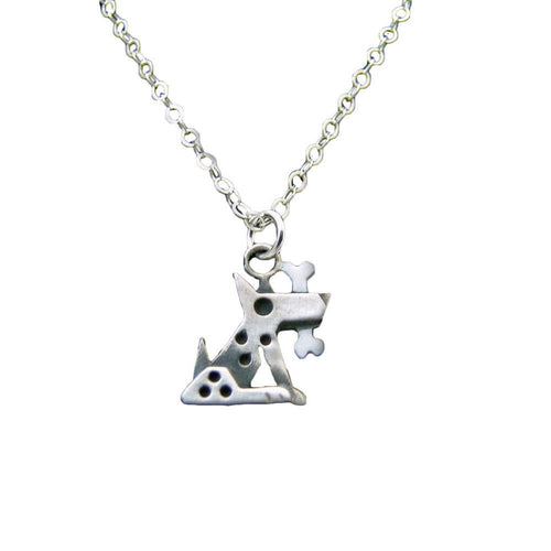 Small Silver Fido Pendant Necklace