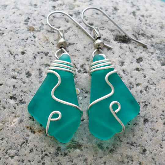 Oceanus Sea Glass Earrings