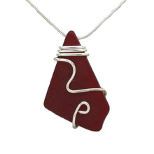 Cranberry Sea Glass Necklace