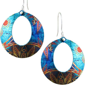 Peacock Hoop Earrings