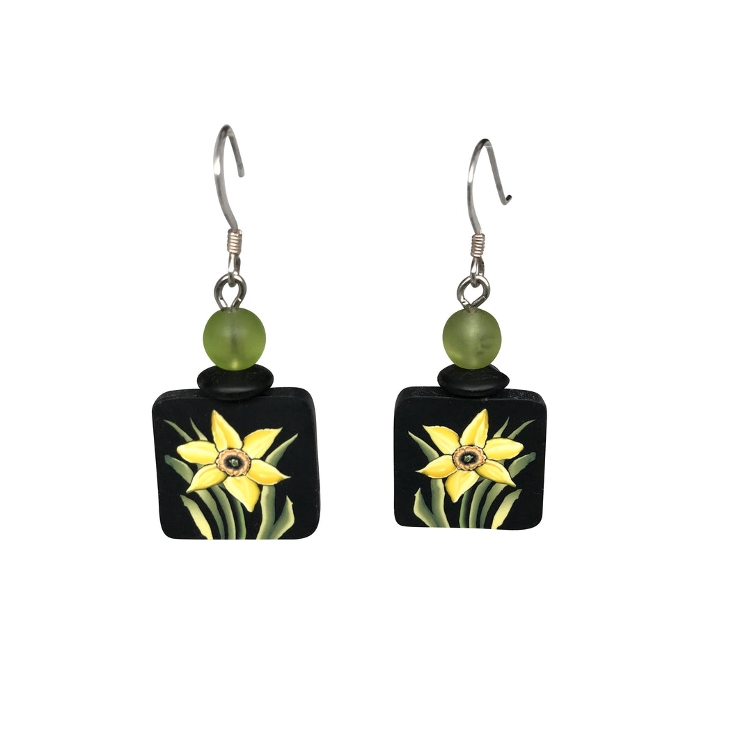 Clay Daffodil Earrings