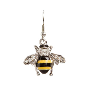 Crystal Bee Earrings