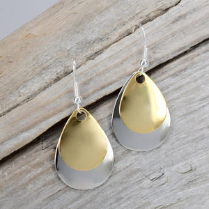 Two Tone Teardrop Earrings