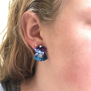 Feathers Post Earrings