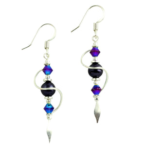 Purple Swirl Earrings