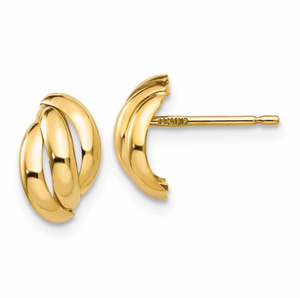 14K Fancy Post Earrings